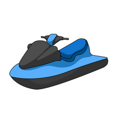 Water scooterextreme sport single icon in cartoon vector
