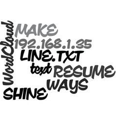 Ways to make your resume shine on line text word vector
