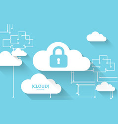 Web cloud technology protection concept system vector