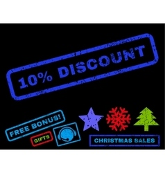 10 percent discount rubber stamp vector