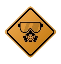 gas mask icon sign vector image