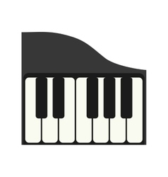 Piano instrument music sound icon graphic vector