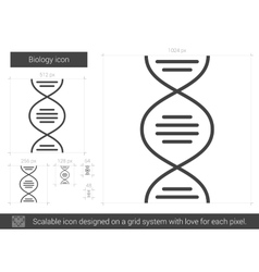 Biology line icon vector