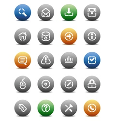 Stencil round buttons for internet vector