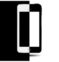 Black and white concept mobile phone vector image