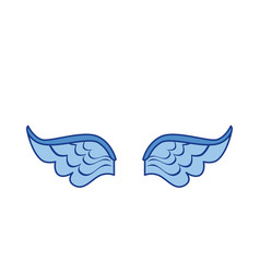 Wings icon image vector
