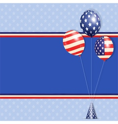 Usa balloons vector