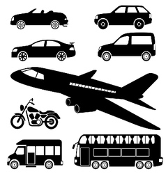 Transportation icon vector