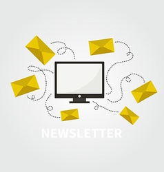 Newsletter concept vector