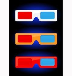 3D cinema vector image