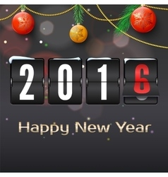 Happy new year 2016 card vector