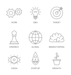 Business creative process icons vector