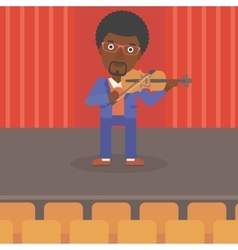 Man playing violin vector