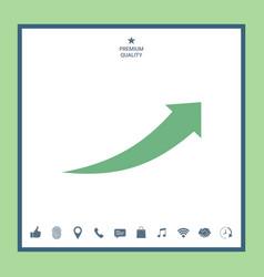 Arrow icon - up vector