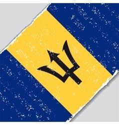 Barbados grunge flag vector