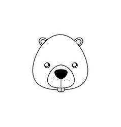 beaver drawing face vector image