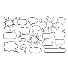 Big set of speech bubbles vector