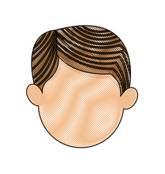 cartoon head man male manger icon vector image vector image