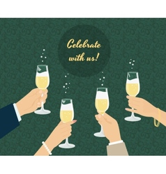 Celebrating poster vector image