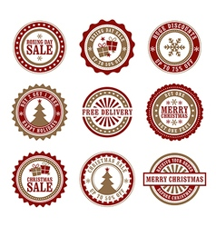 Christmas badges and stamps vector