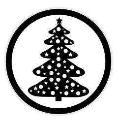 Christmas Tree button vector image