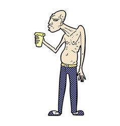 Comic cartoon hooligan vector