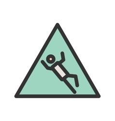 Danger of slipping vector