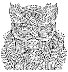 Decorative ornamental owl background vector