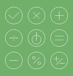 Flat design thin line icons set vector image