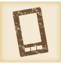 Grungy smartphone icon vector image