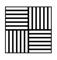 laminate flooring the black color icon vector image vector image
