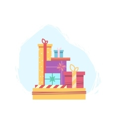 Lots of gift boxes for christmas vector