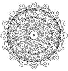 mandala like round vintage ethnic ornament vector image vector image