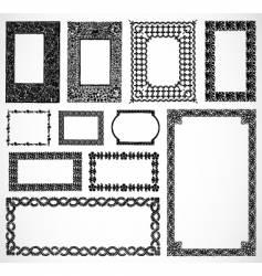 ornate border frames vector image