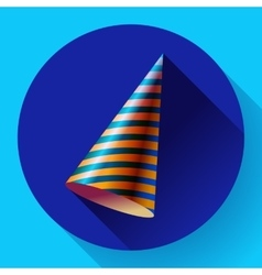 Party hat icon long shadow vector image vector image
