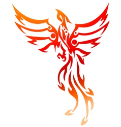 phoenix tattoo tribal vector image vector image