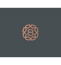 Premium number 8 logo icon design luxury vector