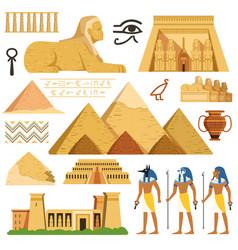 pyramid of egypt history landmarks cultural vector image vector image