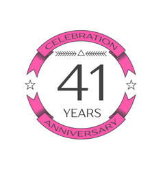 Realistic forty one years anniversary celebration vector