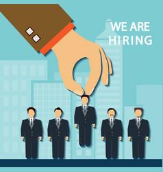 Recruitment a candidate vector