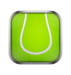 Square icon for tennis app or games vector