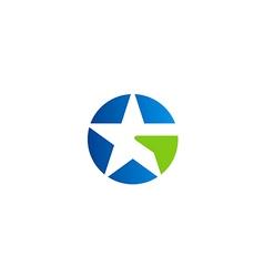 star abstract symbol unusual logo vector image