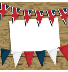 uk bunting decoration vector image