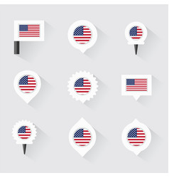 united states of american flag and pins for vector image vector image