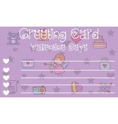 Valentine card romance theme art vector