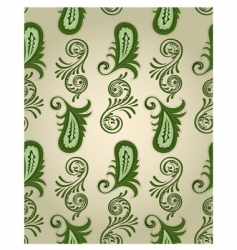 vector seamless paisley pattern vector image