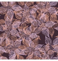 vintage floral semless pattern vector image