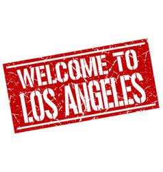 Welcome to los angeles stamp vector