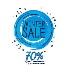 Wintersale banner discount vector