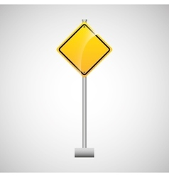 Sing yellow empty traffic design vector
